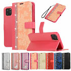 For iPhone Phone/8/6s/7 Plus/X Flip Leather Bling Rose Pattern Wallet Case Cover