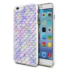 Lilac Mermaid Scales Design Hard Back Case Cover Skin For Various Phones