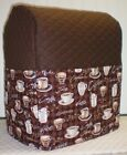 Chocolate Brown Quilted Coffee Kitchenaid 7 & 8qt Lift Bowl Stand Mixer Cover **