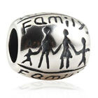 US STOCK Authentic925Sterling Silver Charm Bead Family Hand in Hand for Bracelet
