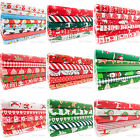 Christmas Fabric 10 Inch Squares Remnants Bundle Bunting Xmas Green Red White