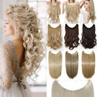 100% Natural Secret Headband Wire in Hair Extension Real as human Hair piece FT4