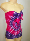 LADIES TIE DYE DYED PINK & PURPLE BOOBTUBE WITH TIE UP FRONT BY SUPRE SIZE M