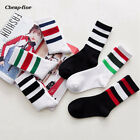 Casual Breathable Striped Stockings Sports Women's Fall Multicolor Cotton Socks