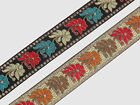 "1.30"" (3.30 Cm) wide By The Yard Jacquard Trim Woven Border Sew Ribbon T798"