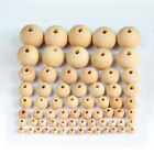 Round Wood Spacer Bead Natural Unpainted Wooden Ball Beads Diy Craft Jewelry