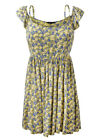 6 8 10 12 14 16 Cheesecloth Floral Summer Dress Yellow | W-H-0088