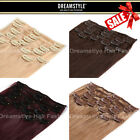 DreamStyle Real Hair Extension: Clip In Remy Human Hair Extensions Full Head