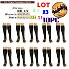 LOT 10 Copper Infused Compression Socks 20-30mmHg Graduated Men's Women's S-XL