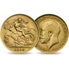 1914 George V Half Gold Sovereign: Minted in London in 22 carat Gold