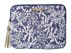 New Lilly Pulitzer iPad Tech CLUTCH Bag Bright Navy In The Groove GOLD Tassel