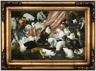 Kahler My Wife's Lovers Wood Framed Canvas Print Repro 12x18