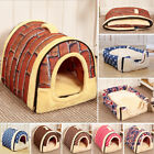 Dual use Pet Dog Cat Bed House Portable Puppy Dog Cave Nest  Pad Cozy Cushion