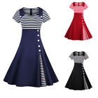 FAIRY COUPLE 50S Vintage Retro Rockabilly Party Dress Housewife Homecoming Dress
