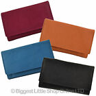 NEW Ladies Medium LEATHER Flap Over PURSE/WALLET by MALA Classic Collection Gift