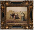 Millet The gleaners Wood Framed Canvas Print Repro 8x10