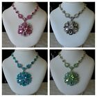 VINTAGE STYLE ART DECO FASHION NECKLACE PENDENT JEWELRY WITH SWAROVSKI CRYSTAL