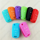 FOR CHEVROLET 4 BUTTON SILICONE SKIN COVER FLIP REMOTE KEY CASE FOB SHELL HOLDER