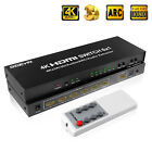 4K 6 port HDMI Switch 6x1 HDMI Switcher Selector Hub+Optical Toslink 3.5mm Out