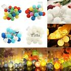 10/20 LED BATTERY POWERED COTTON BALL FAIRY STRING LIGHTS PARTY WEDDING DECOR TW