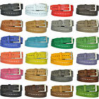 4cm br. Real Leather HOLES BELT Antiqued Silver N-F (229) Selectable AUS 24