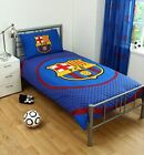Kids Barcelona FC Fade Football Club Single Duvet Cover Bed Set Blue Red Design