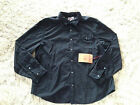 TRUE RELIGION Shirt Long Sleeve Button Down Slim Fit Black Mens