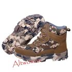 Hot Men's Winter Warm High Top Safety Lace Up Steel Toe Working Boots Camo Shoes