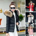 Fashion ladies jacket Quilted Fur Collar Warm Winter Womens Down Feather Coat