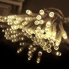 Warm White&Green 5M 50 LED AA Battery Powered Fairy Light String Decorate Xmas