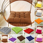 SOFT COLOURFUL SEAT PAD DINING ROOM GARDEN KITCHEN CHAIR CUSHIONS WITH TIE ON