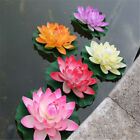 28cm Artificial Lotus Floating Water Lily Flower Fish Tank Aquatic Floral Decor
