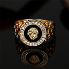 Vintage Men Jewelry Stainless Steel Pinky Engagement Ring Mens Wedding Band 7-12