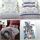 PARIS FRENCH DUVET COVER SET LANDMARKS EIFFEL TOWER - SINGLE, DOUBLE, KING SIZE