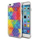 Colourful Mermaid Scales Design Hard Back Case Cover Skin For Various Phones
