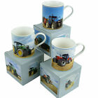 New Tractor China Mugs 3 Designs Gift Boxed Harvest Rural Countryside Wheat Hay