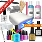 Deluxe Nail Gel Polish CCO Starter Kit Set 36w UV Lamp Light Polish Shellac