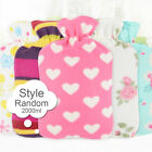 Portable Washable Hot Water Bag Hand Warmer Bottle Flannel Anti Scal Cloth Cover