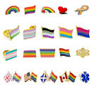 LGBT Pride Flag Rainbow Lesbian Gay Transgender Bisexual Diversity Pin Badge UK