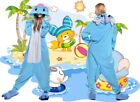 Hot Sale Unisex Adult Elephant Pajamas Animal Jumpsuit Cosplay Costume Sleepwear