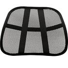 back support for office chair - Mesh Back Lumbar Support Portable For Your Car Seat Chair Office or Home Black