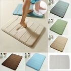 Non-slip Coral Velvet Memory Foam Rug Bathroom Soft Mat Bedroom Shower Carpet