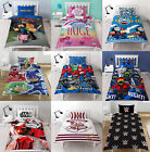 Childrens Characters Single Bed Quilt Duvet Cover & Pillowcase Kids Bedding Set