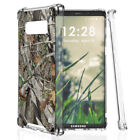 Samsung Galaxy Note 8 Case Hunter Camo/Carbon Fiber TPU Skin Cover Raised Corner