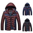 Mens Fashion Puffer Jacket Padded Outer Wear Winter Red Blue Black Size L-3XL