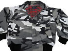 Heavy Harrington Jacket Tartan Lined Urban City Camouflage Punk Skinhead Mod