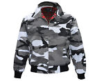 Heavy Harrington Jacket Tartan Lined Urban City Camouflage Punk Skinhead Jacke