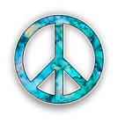 Peace Sign Sticker Vinyl Window Laptop Car Truck SUV bumper Decal - 9 Patterns