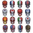Flag Embroidered Patch Skull Halloween Patch Vest Emblem Military Badge Armband