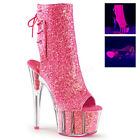 "Pleaser Adore-1018G Sexy Exotic Dancer Stripper Ankle/Mid Calf 7"" Platform Boot."